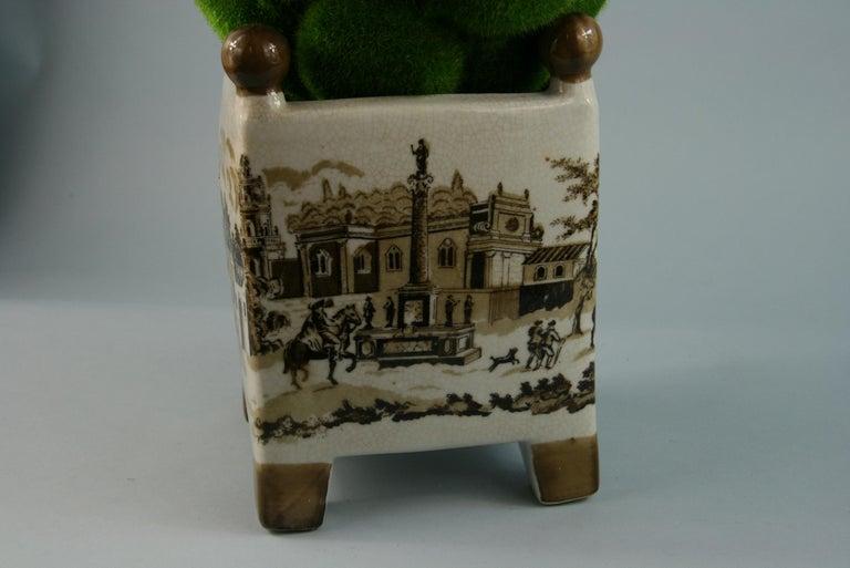 English Stoneware Garden Topiary For Sale 1