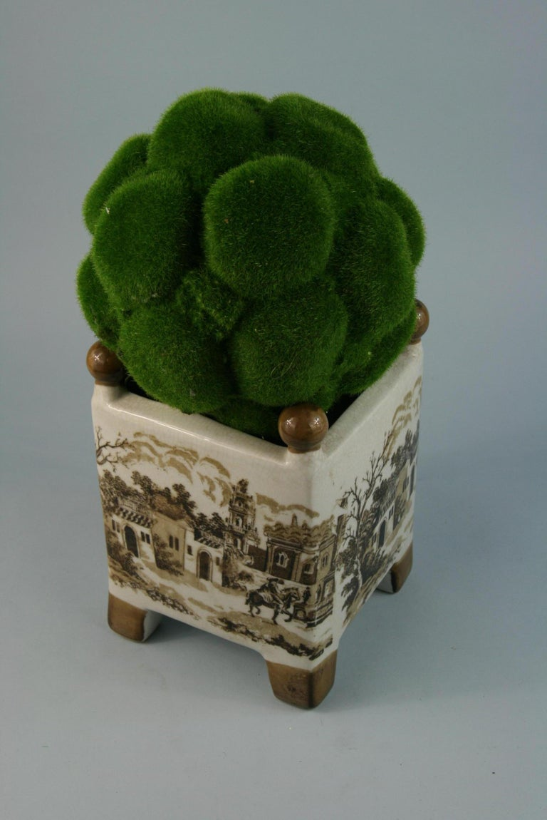 English Stoneware Garden Topiary For Sale 4