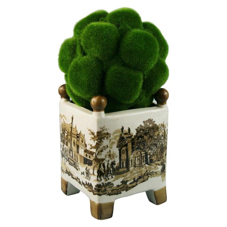 English Stoneware Garden Topiary For Sale