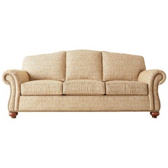 English Style Humpback Upholstered Three-Seat Sofa