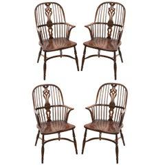 English Style Oak Windsor Chair Set