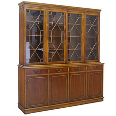 English Style Showcase Cabinet or Buffet Bookcase Made of Walnut