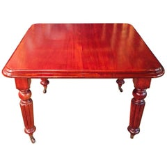 English Table Solid Mahogany circa 1850  Signed.Joseph Fitter