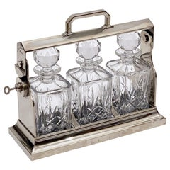 English Tantalus Drinks Set with Three Decanters by Mappin & Webb