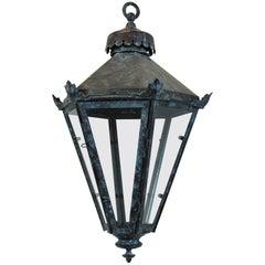 English Tapering Hanging Lantern