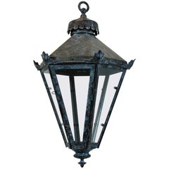 English Tapering Hanging Lantern