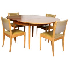 English Teak Dining Table and 4 Chairs