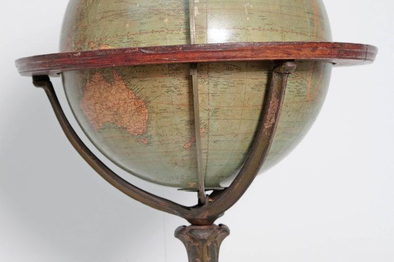 English Terrestrial Globe by W. & A.K. Johnston, Limited, circa 1890 For Sale 3