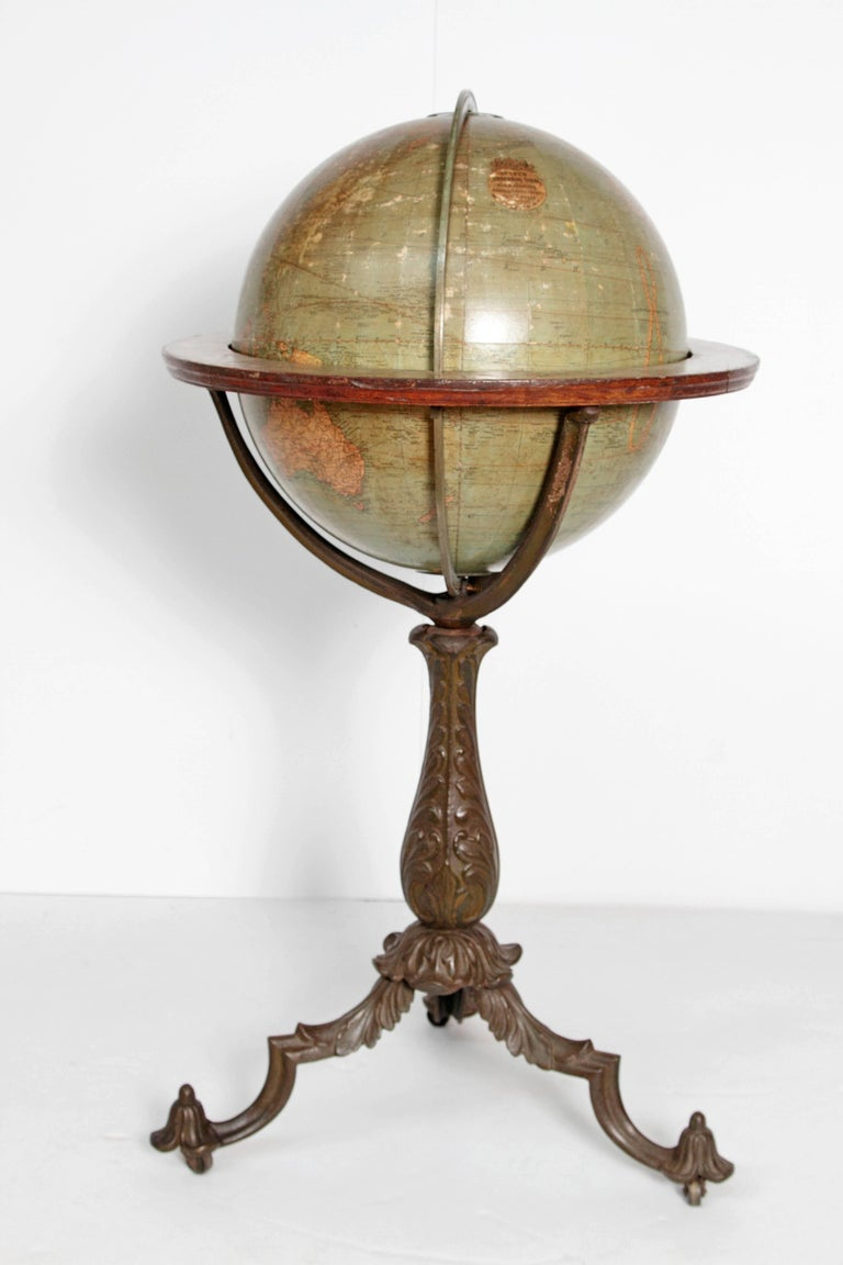 English Terrestrial Globe by W. & A.K. Johnston, Limited, circa 1890 In Good Condition For Sale In Dallas, TX