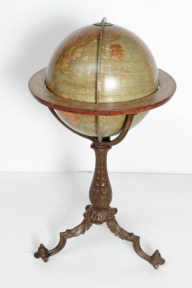 19th Century English Terrestrial Globe by W. & A.K. Johnston, Limited, circa 1890 For Sale
