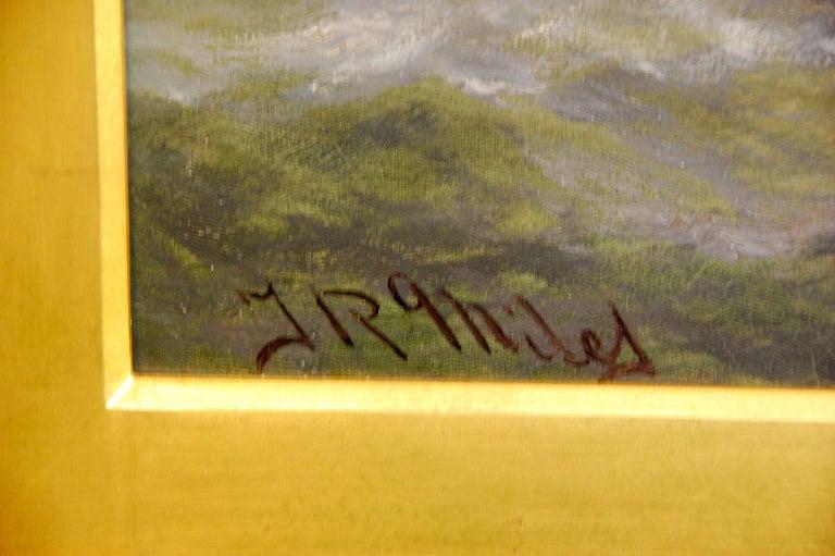 English Thomas Rose Miles 19th Century Large Original Marine Oil Painting For Sale 3
