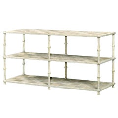 English Three-Tier Washed Console Table