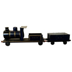 English Toy Train with Cargo Car, 1940