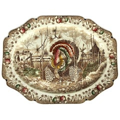 English Transfer-Ware Large Platter, His Majesty by Johnson Brothers