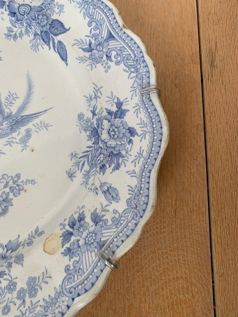 English Transferware Oval Charger in Asiatic Pheasants Pattern, Unmarked For Sale 5