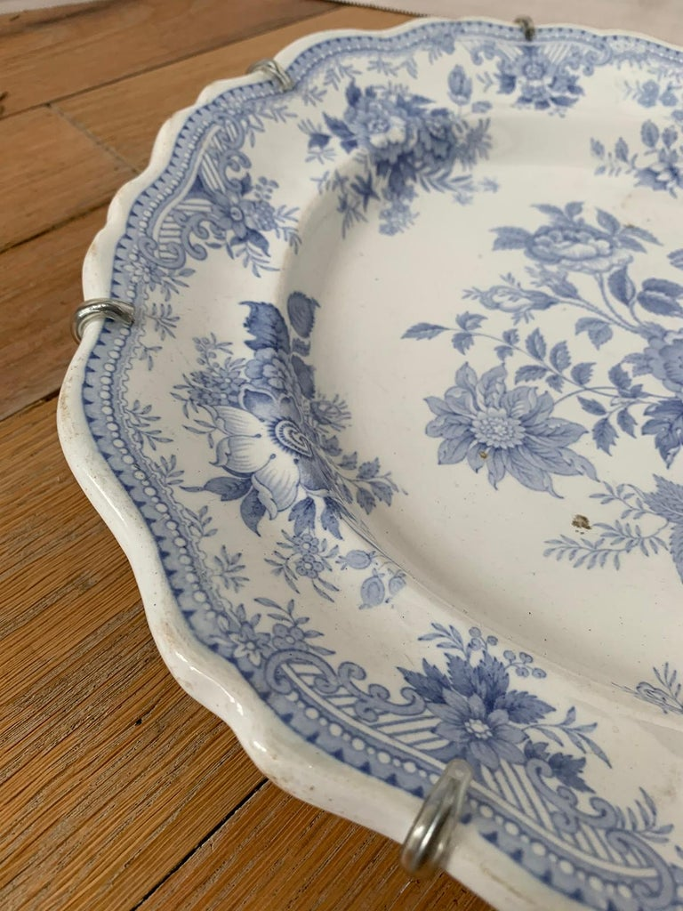 English Transferware Oval Charger in Asiatic Pheasants Pattern, Unmarked For Sale 6