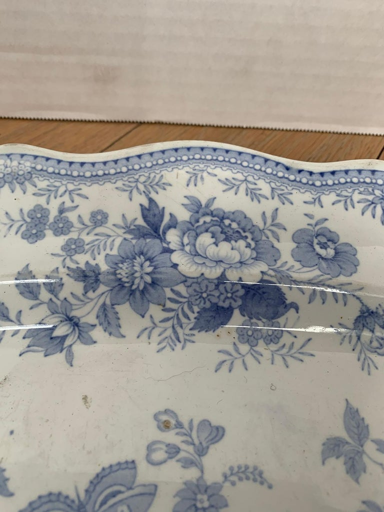 English Transferware Oval Charger in Asiatic Pheasants Pattern, Unmarked For Sale 7