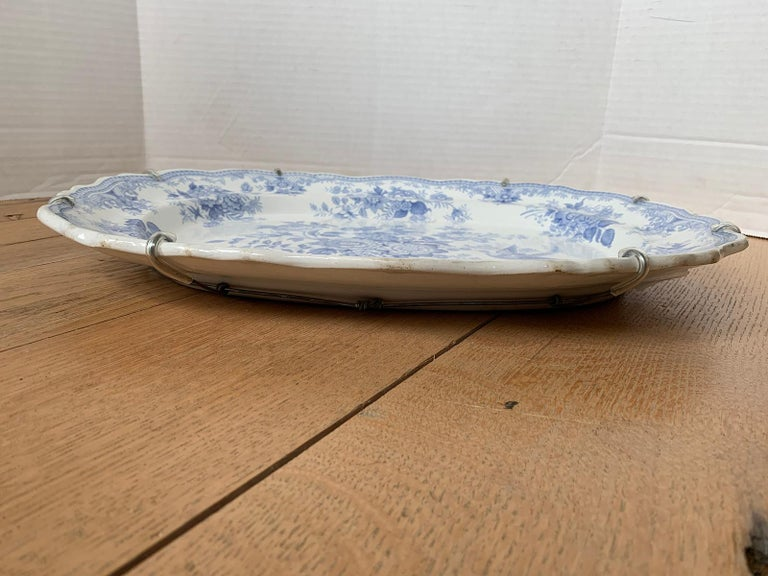 English Transferware Oval Charger in Asiatic Pheasants Pattern, Unmarked For Sale 1