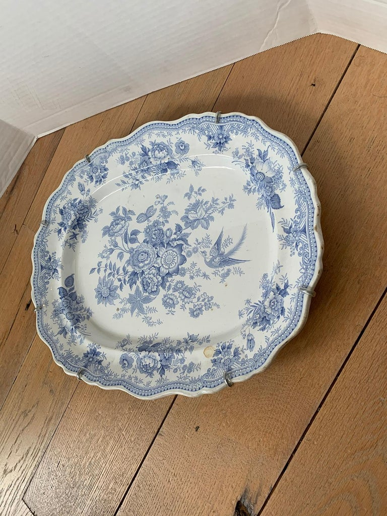 English Transferware Oval Charger in Asiatic Pheasants Pattern, Unmarked For Sale 2