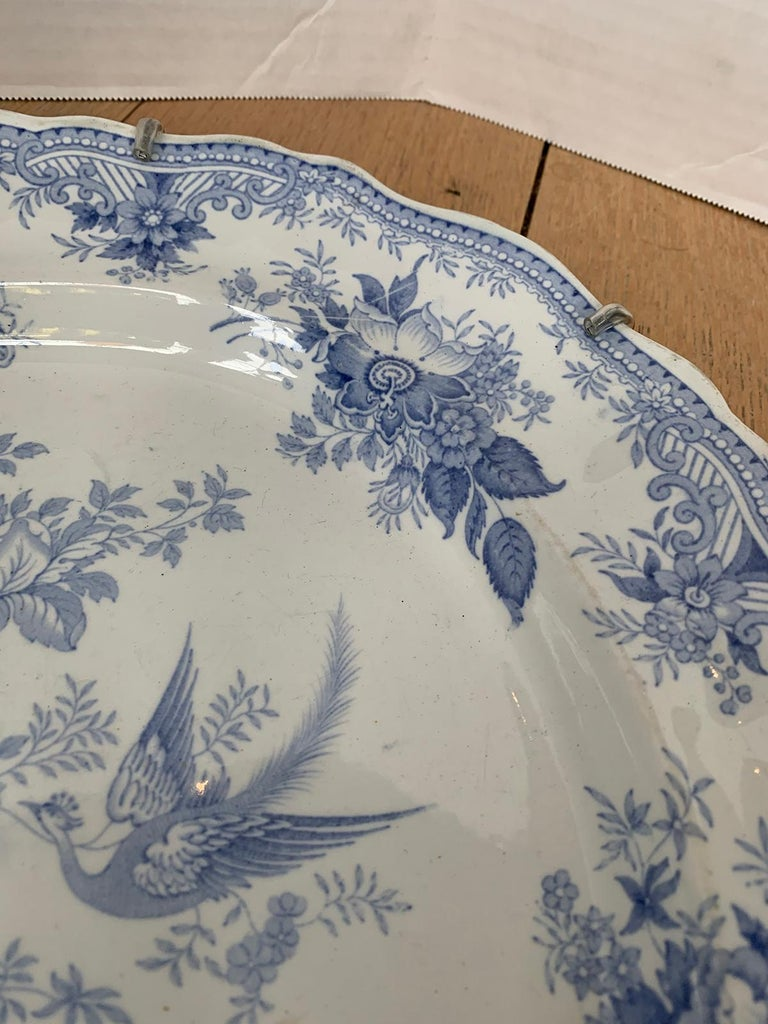 English Transferware Oval Charger in Asiatic Pheasants Pattern, Unmarked For Sale 4