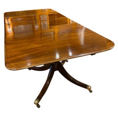 English Two Pedestal Late 19th Century Mahogany Dining Table