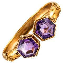 English Victorian Amethyst Bracelet