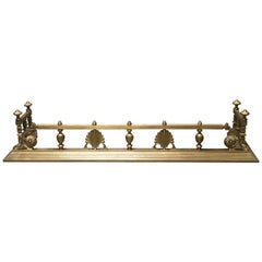 English Victorian Brass Fire Fender