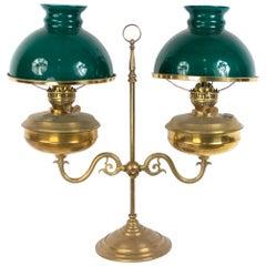 English Victorian Bronze Student Lamp