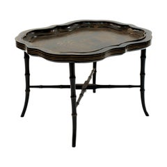 English Victorian Chinoiserie Tray Top Table