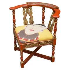 English Victorian Corner Chair, circa 1890