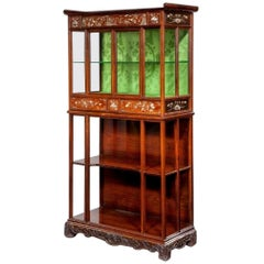 English Victorian Exhibition Quality Cabinet in the Orientalist Style