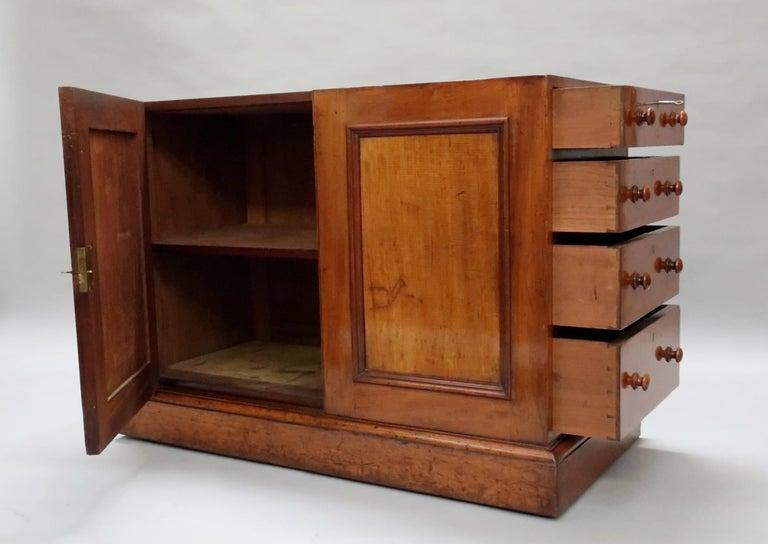 English Victorian Figured Mahogany Partners Pedestal Kneehole Writing Desk 4