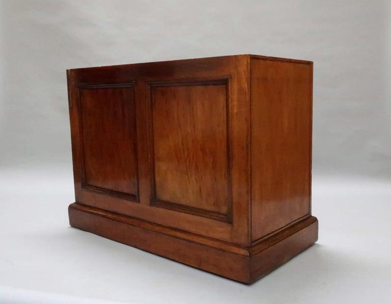 English Victorian Figured Mahogany Partners Pedestal Kneehole Writing Desk 5