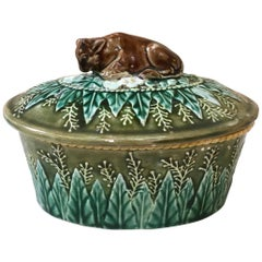 English Victorian Majolica Tureen, circa 1880