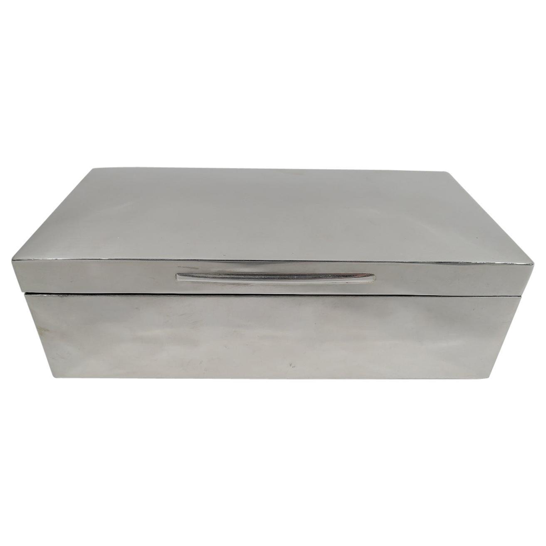 English Victorian Modern Sterling Silver Box