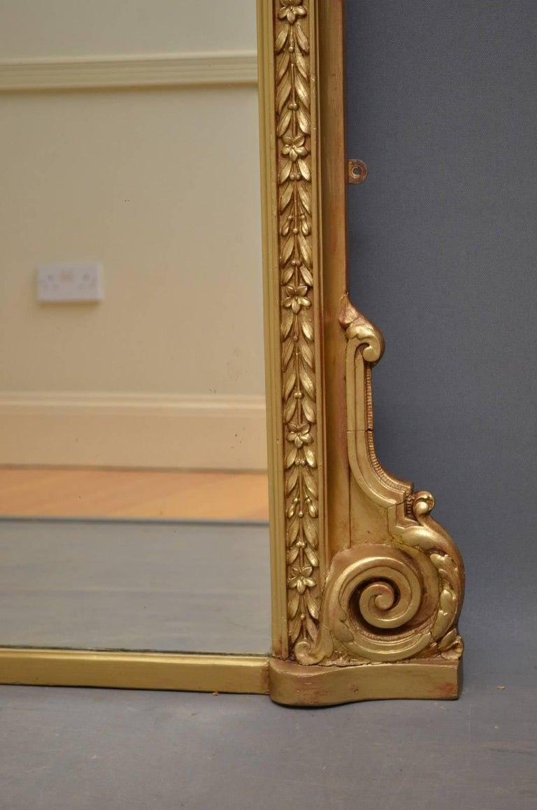 English Victorian Overmantel Mirror For Sale 4