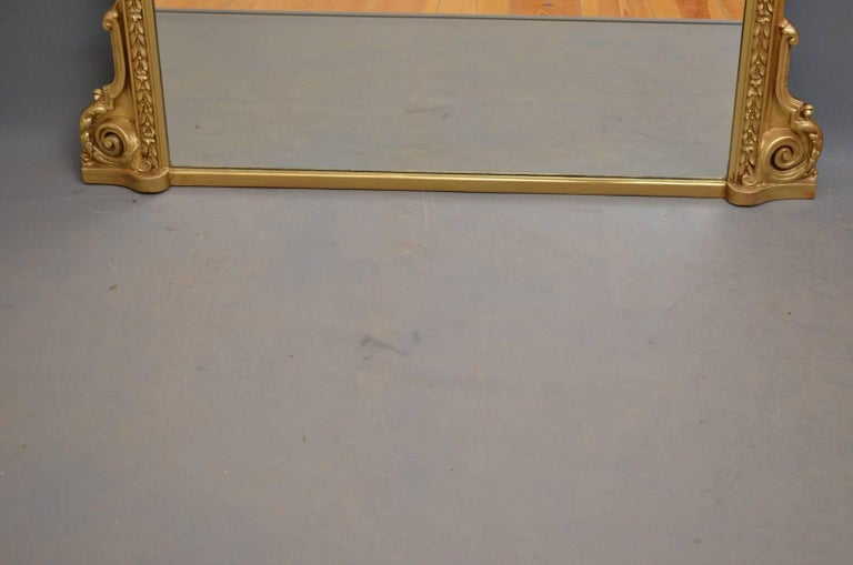 English Victorian Overmantel Mirror For Sale 5