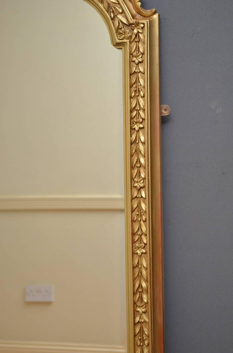 English Victorian Overmantel Mirror For Sale 3