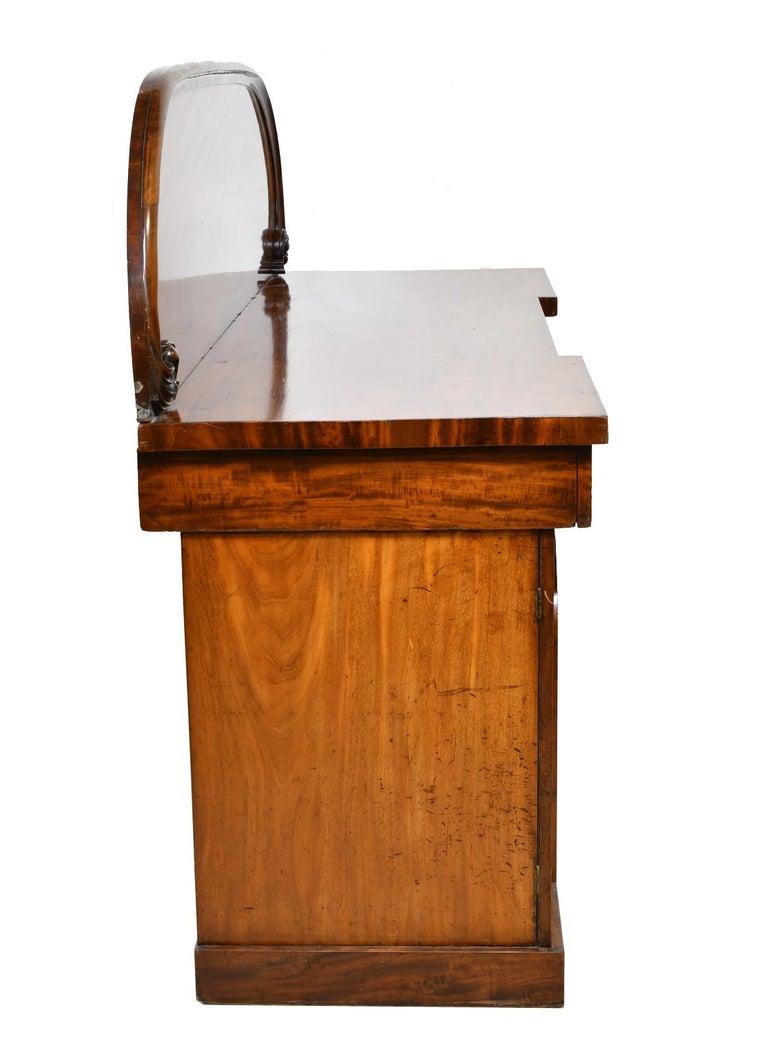 English Victorian Pedestal Base Sideboard in Mahogany, circa 1850 For Sale 4