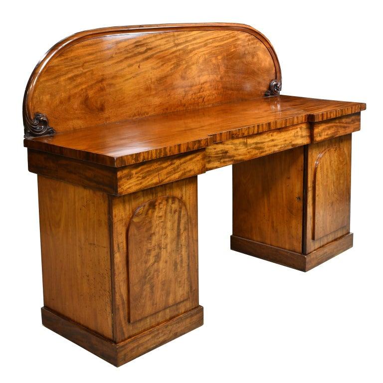 English Victorian Pedestal Base Sideboard in Mahogany, circa 1850 For Sale 5