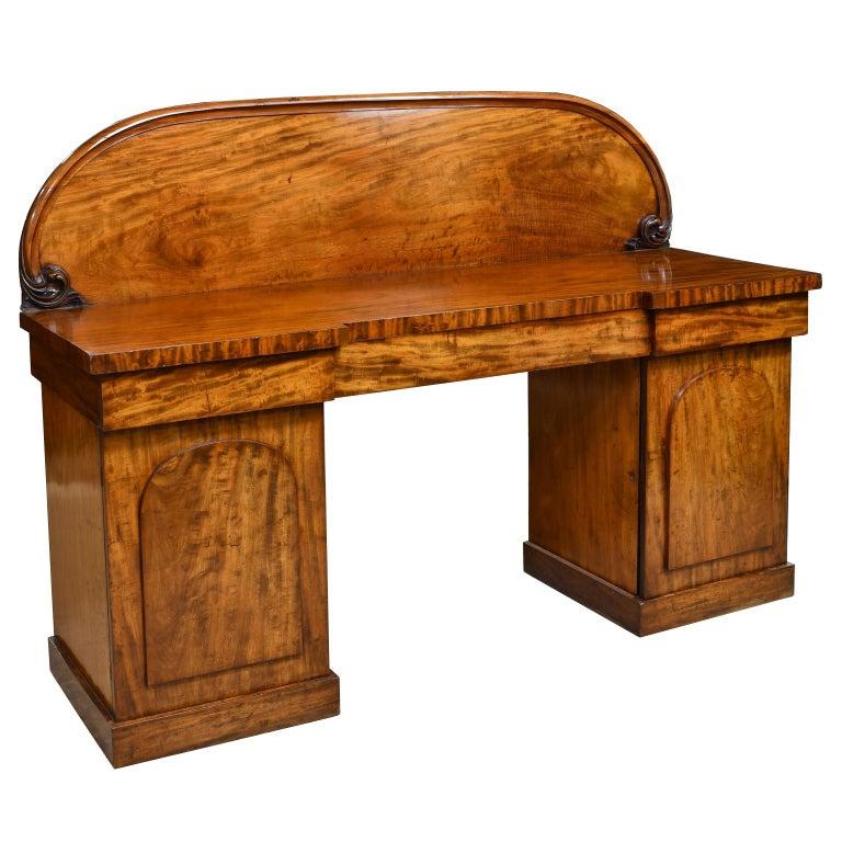 English Victorian Pedestal Base Sideboard in Mahogany, circa 1850 For Sale 6