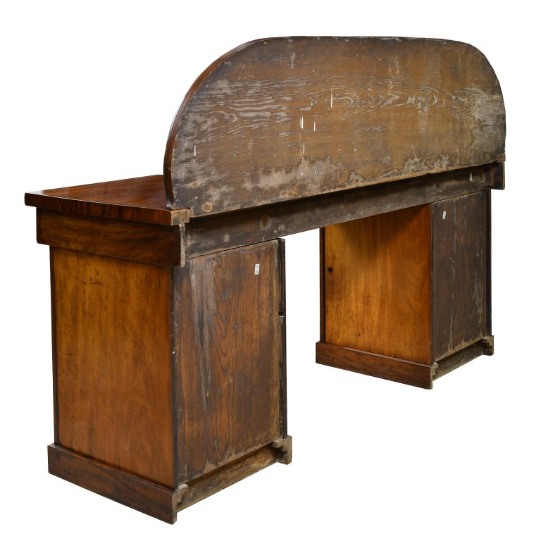 19th Century English Victorian Pedestal Base Sideboard in Mahogany, circa 1850 For Sale