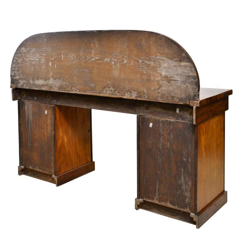 English Victorian Pedestal Base Sideboard in Mahogany, circa 1850 For Sale 2