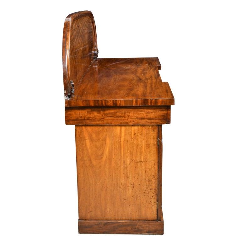 English Victorian Pedestal Base Sideboard in Mahogany, circa 1850 For Sale 3