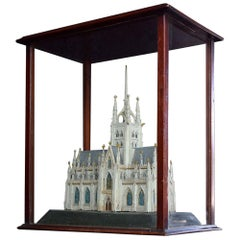 English Victorian Pine Church Diorama Model
