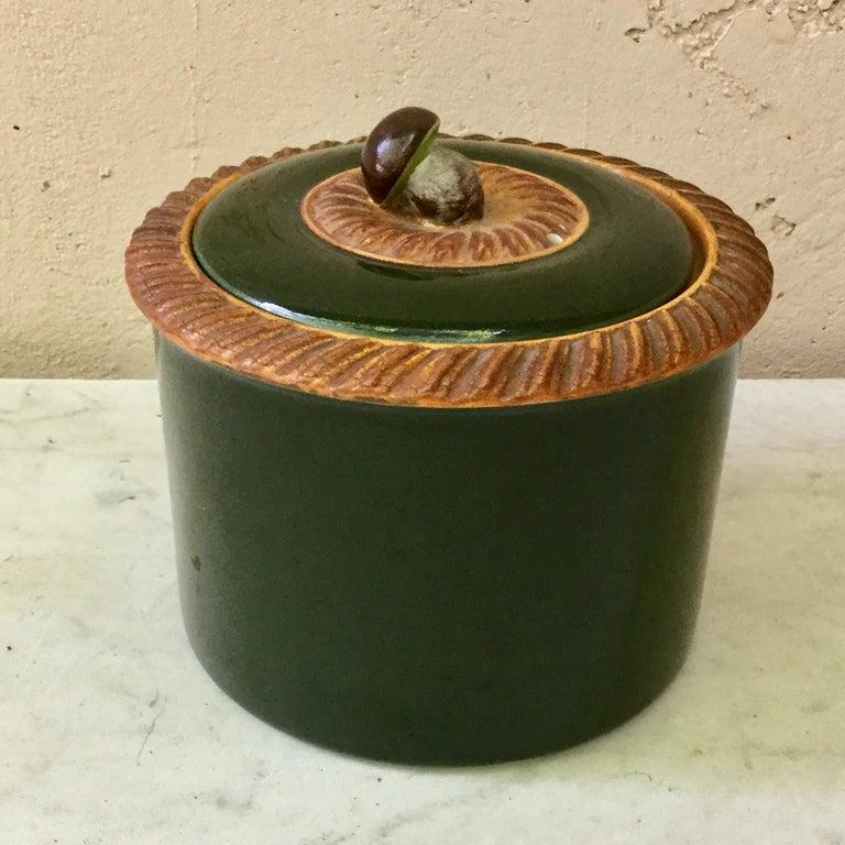 English Victorian Sardine Box with Shell, circa 1890 For Sale 1