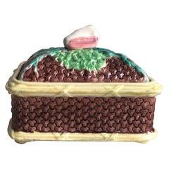 English Victorian Sardine Box with Shell, circa 1890