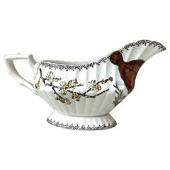English Victorian Transferware Saucer with Fish, circa 1882