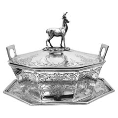 English Victorian Silver Butter Dish
