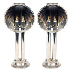 English Victorian Silver Plated Student Lamps